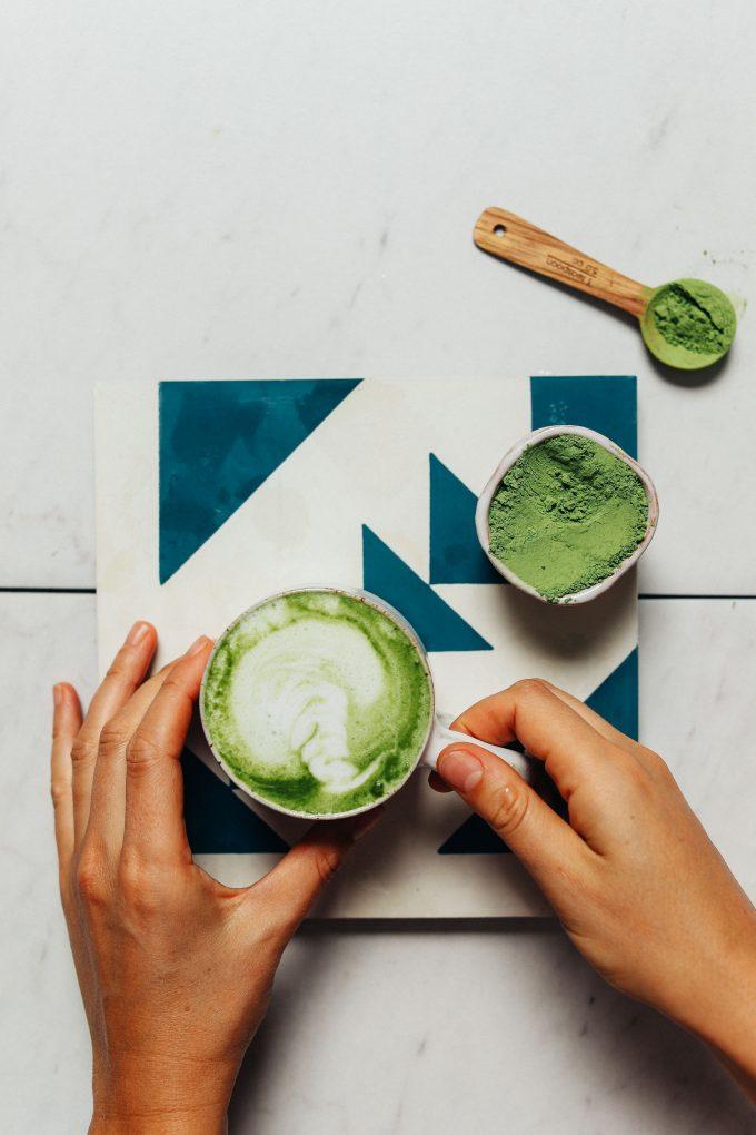 """3-Ingredient Moringa Latte (Caffeine-Free """"Matcha!"""")"""