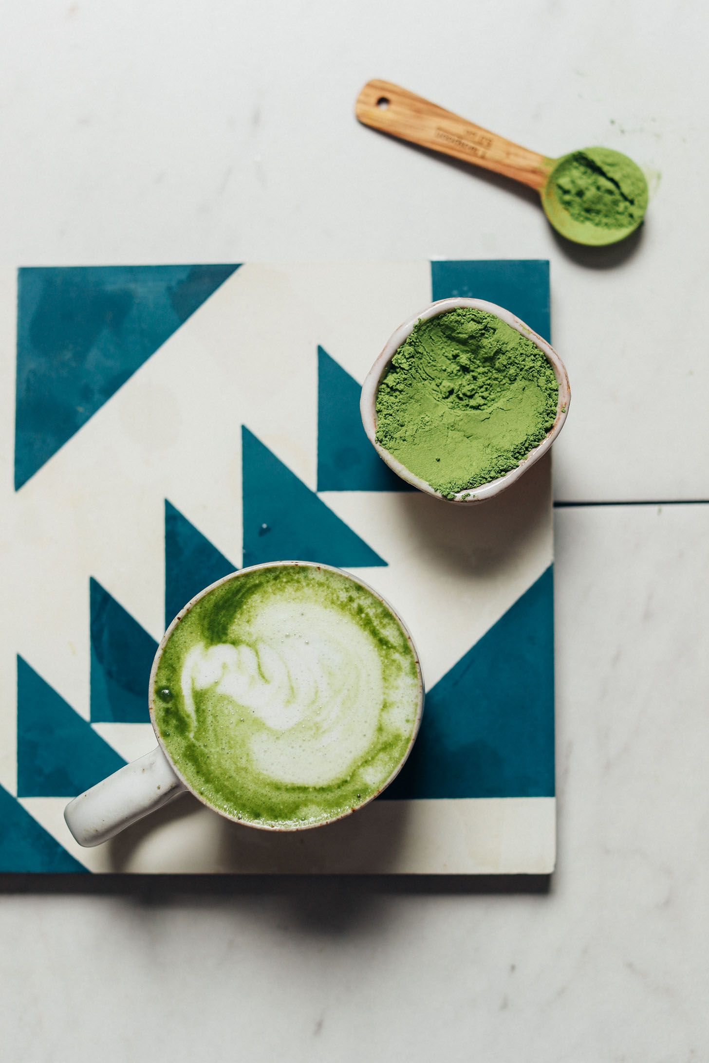3-Ingredient Moringa Latte (Caffeine-Free