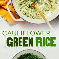 Images of our tutorial on How to Make Cauliflower Green Rice