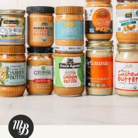 Assortment of Cashew Butters for our review of the best brands of cashew butter