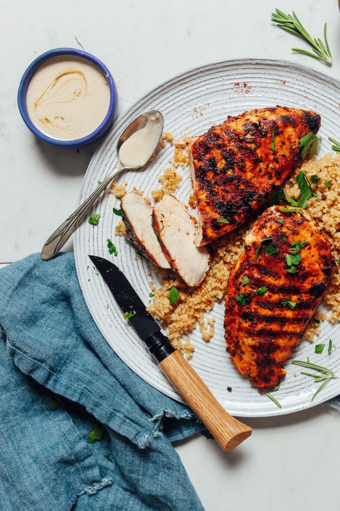 Easy Marinated Grilled Chicken (30 Minutes!)