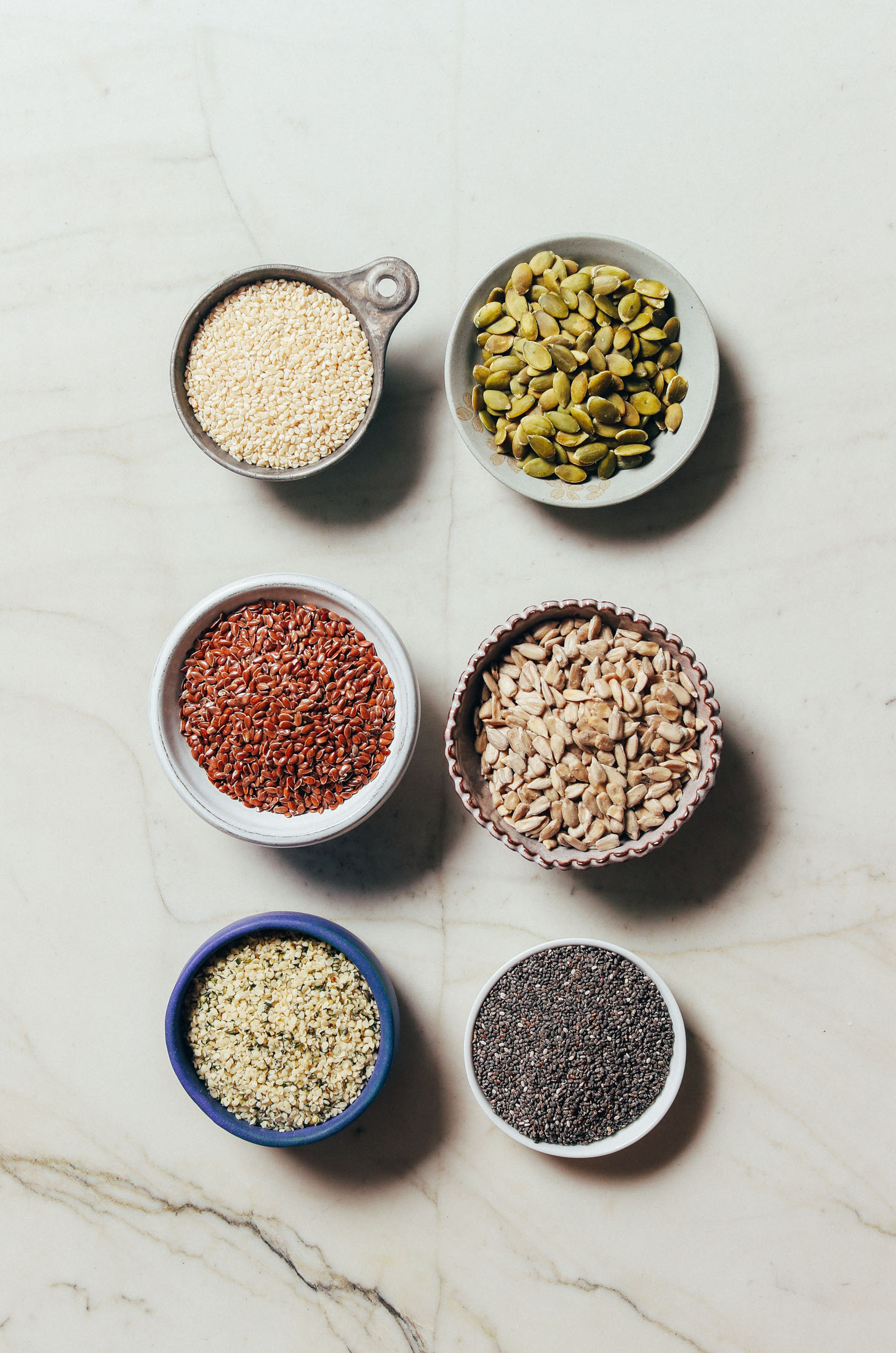 Assortment of seeds for our How to Stock Your Pantry Beginner's Guide
