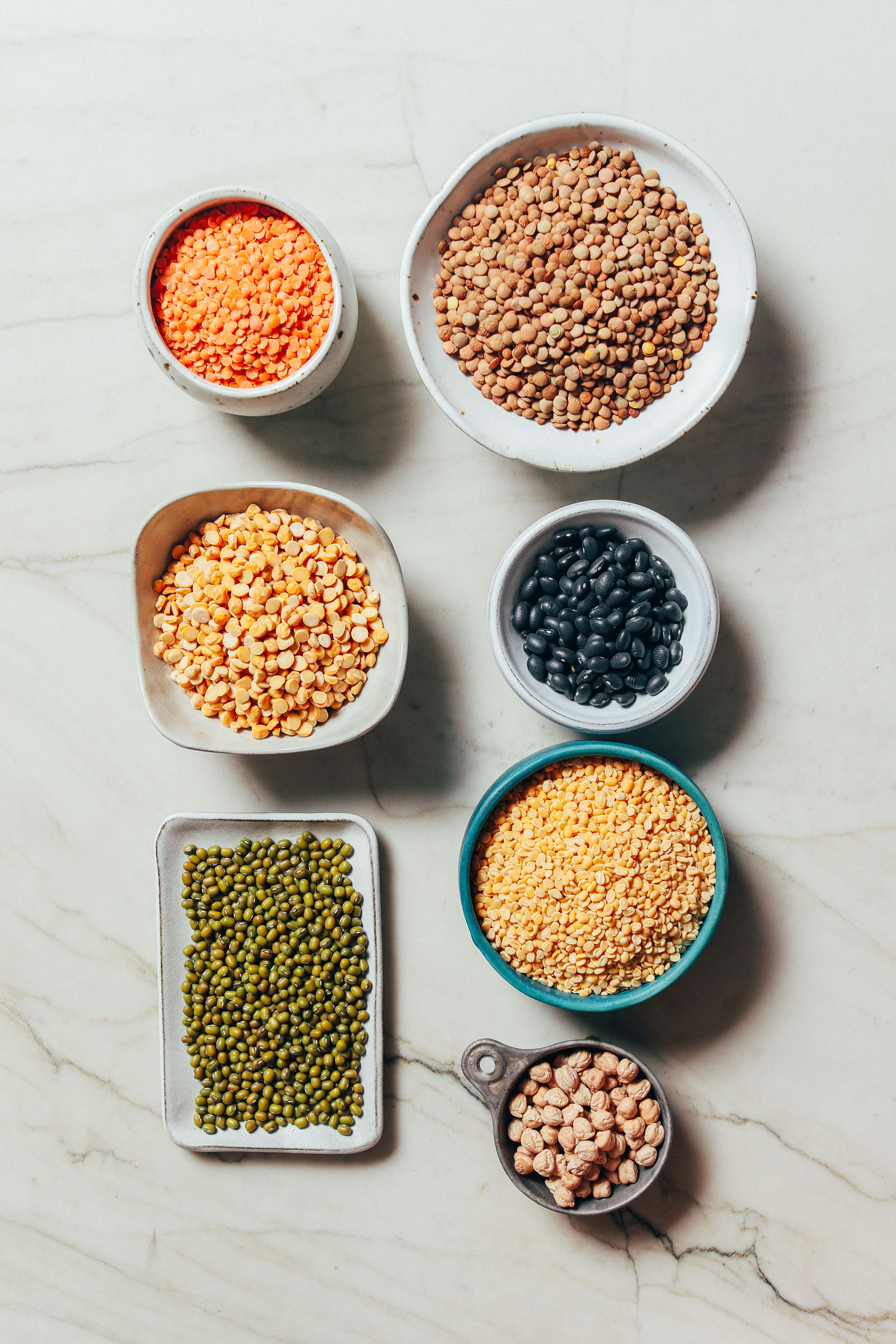 Assortment of legumes and pulses included in our Guide on How to Stock Your Pantry
