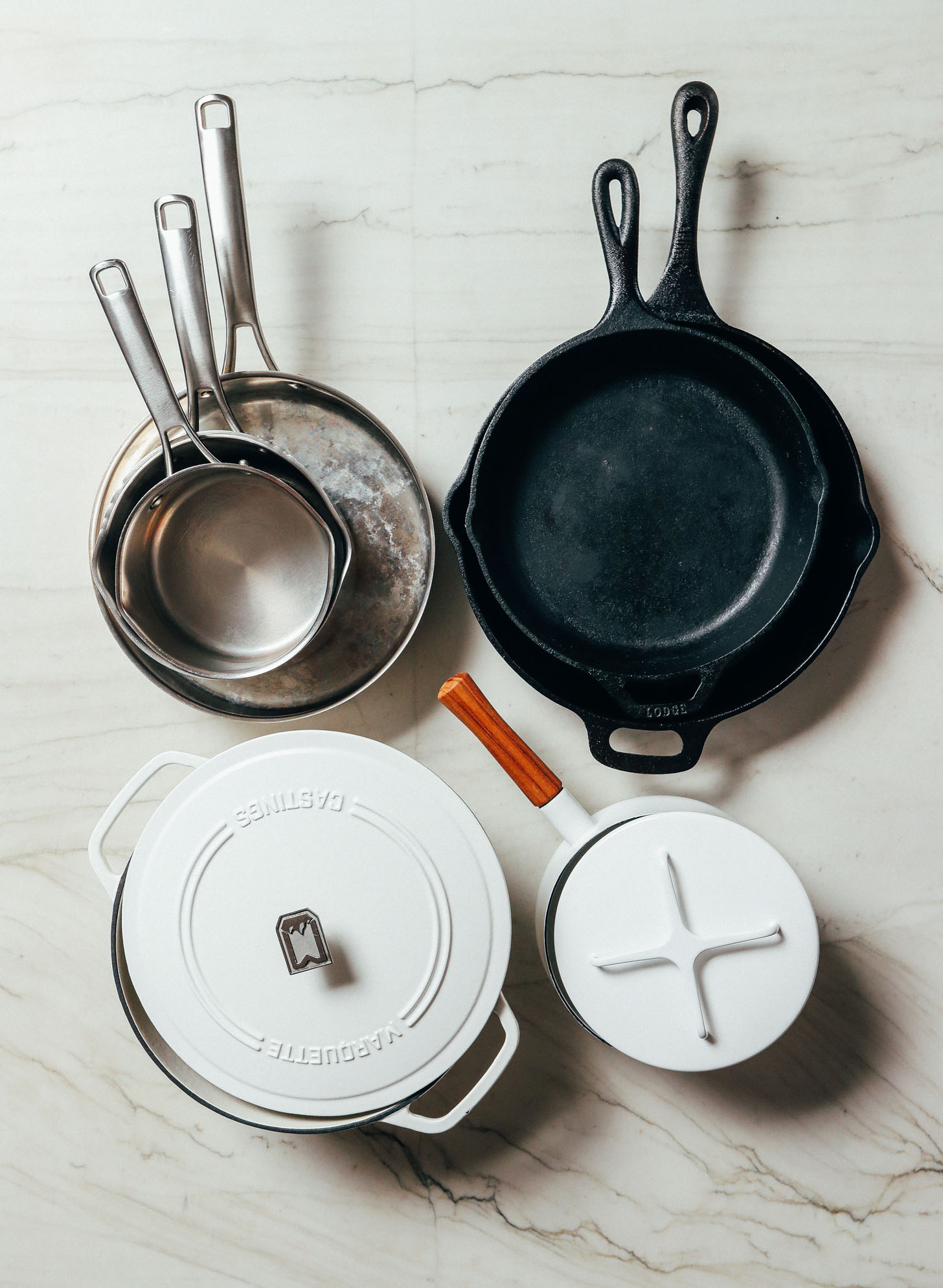 Our favorite pots and pans included in our How to Stock Your Pantry guide