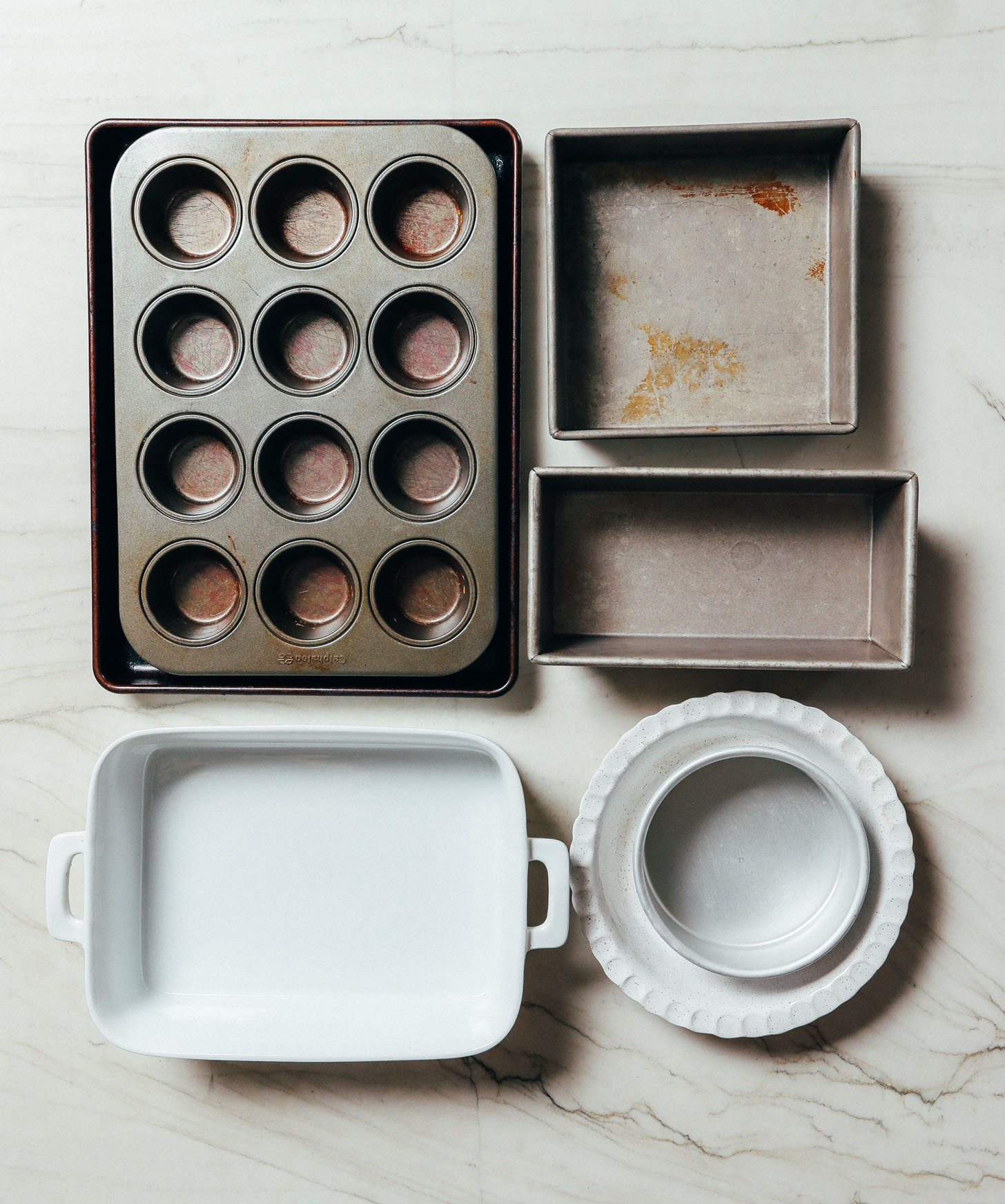 Assorted bakeware for all the tools needed to start baking in your kitchen