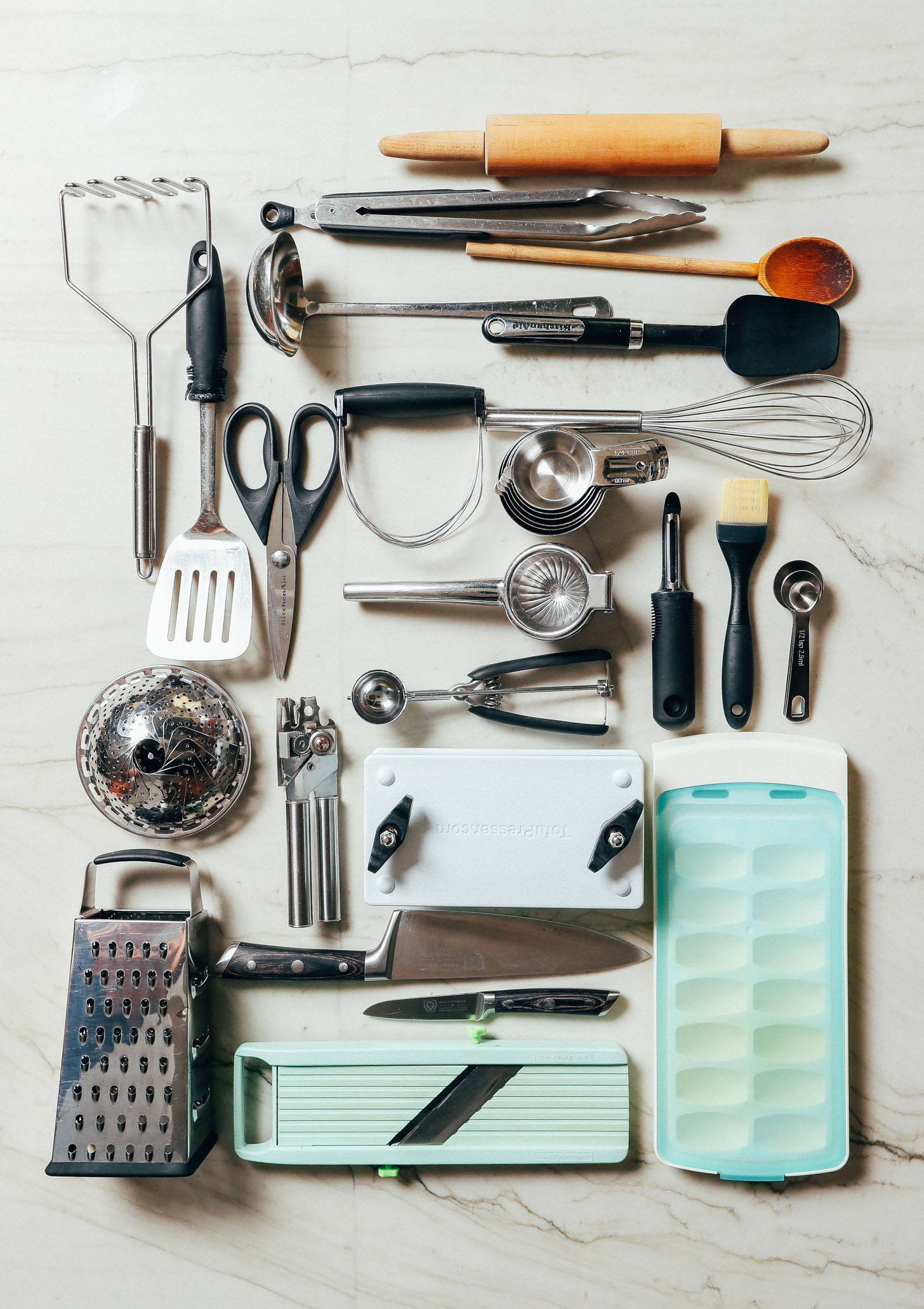 Assorted kitchen tools included in our guide on How to Stock Your Pantry