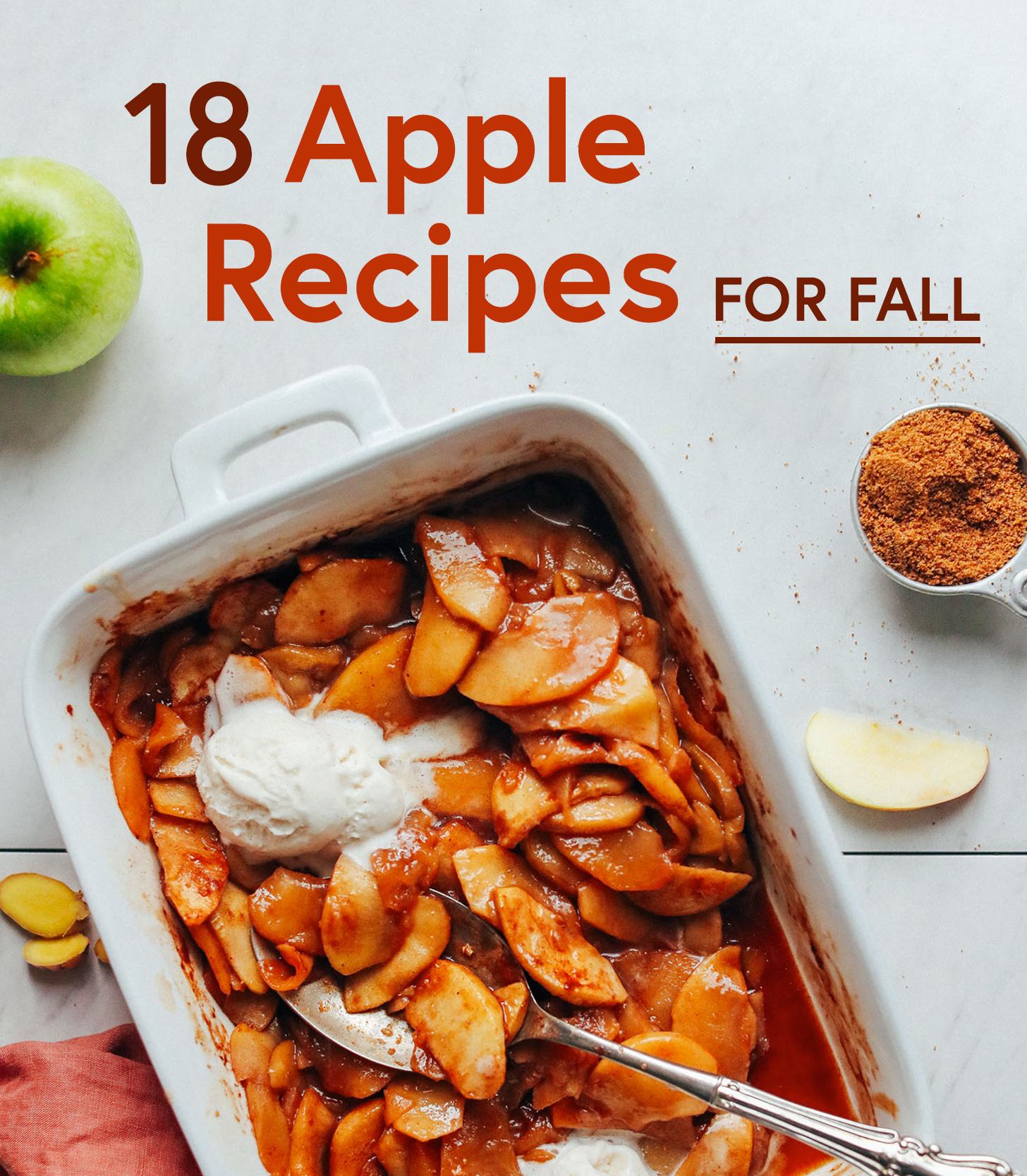 Pan of Baked Apples for our roundup of 18 Apple Recipes for Fall