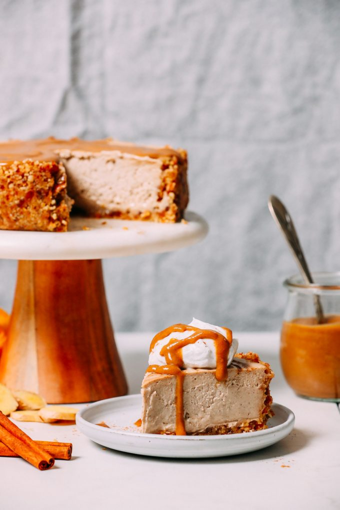 No-Bake Vegan Chai Cheesecake