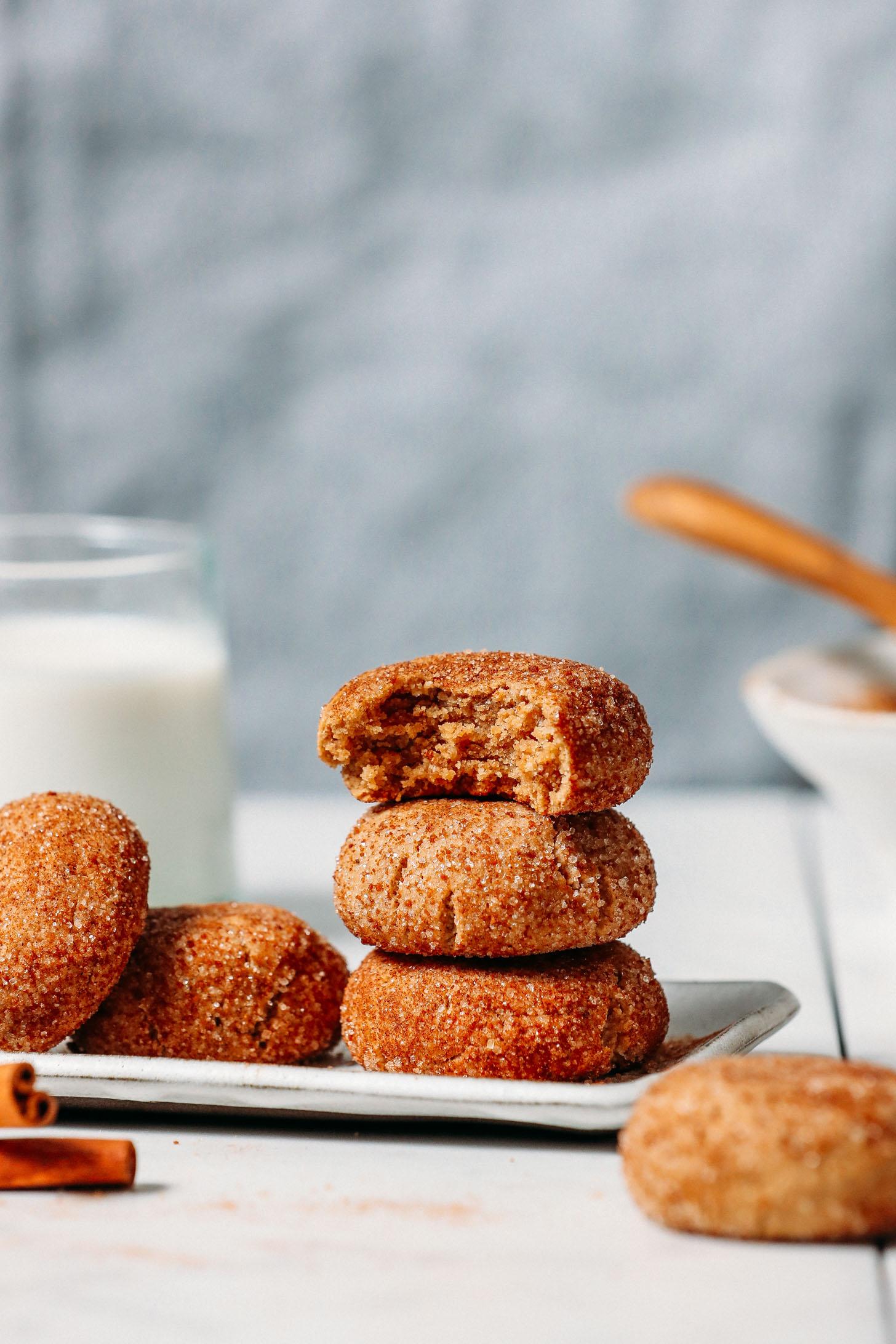 Plate of gluten-free snickerdoodle cookies