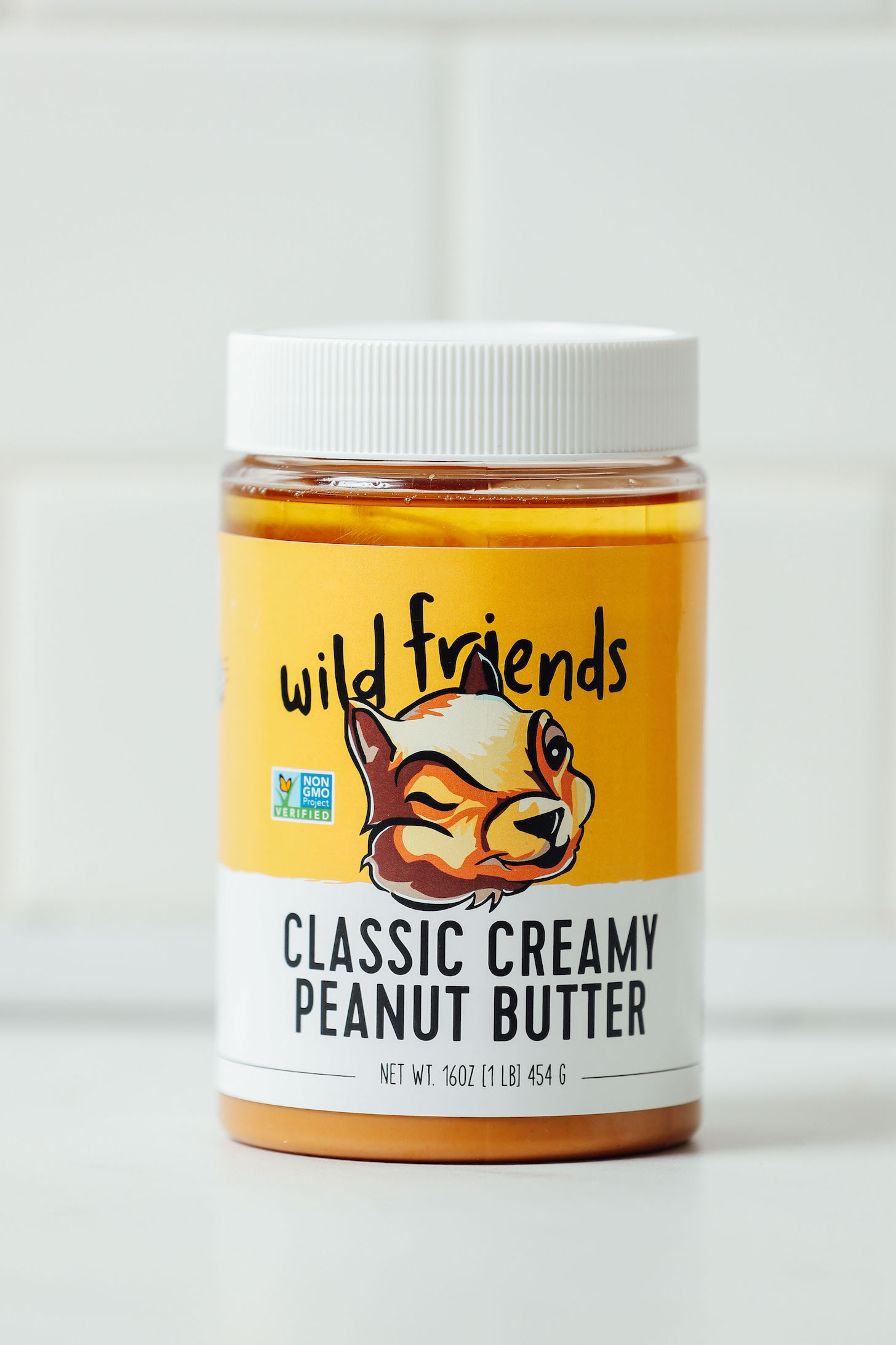 Jar of our favorite brand of peanut butter for our unbiased review of peanut butter brands
