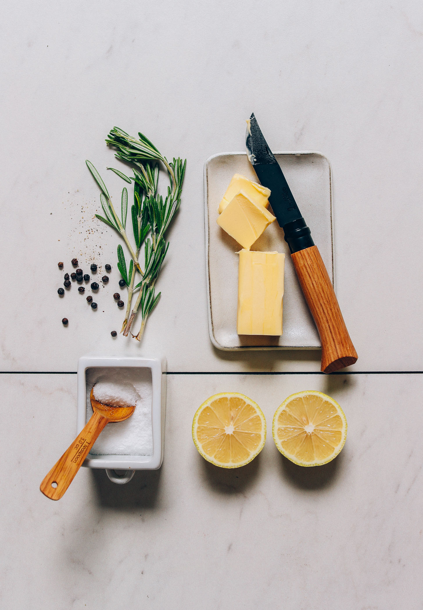 Ingredients for making the best Roasted Chicken recipe