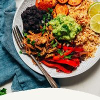 Grain-Free Burrito Bowl made with Shredded Mexican Chicken