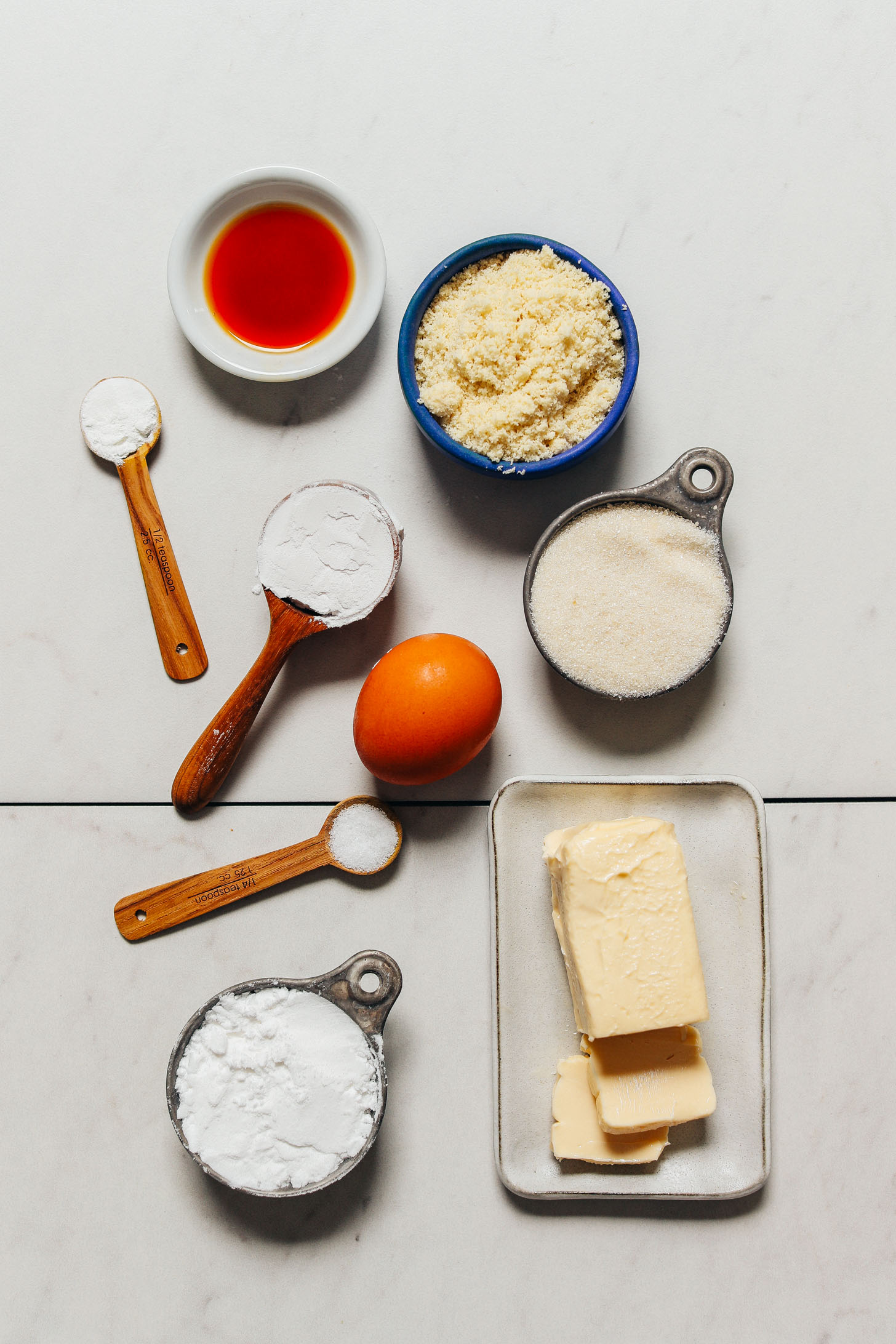Ingredients for making our Grain-Free Sugar Cookie Recipe