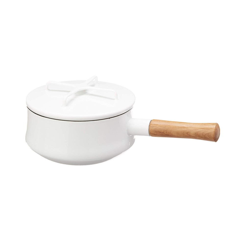 Our favorite fancier white saucepan