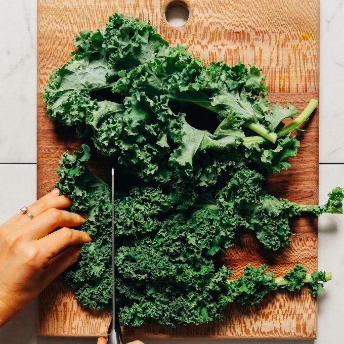 Chopped fresh kale