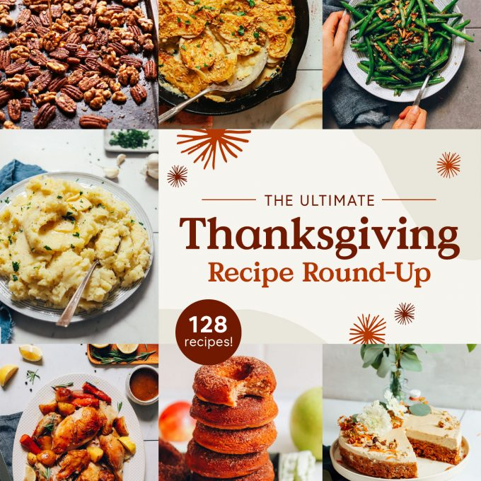 Assortment of recipe photos for our Thanksgiving Recipe Round-Up