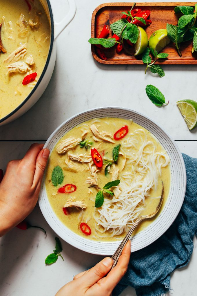 Cozy Thai-Inspired Chicken Noodle Soup