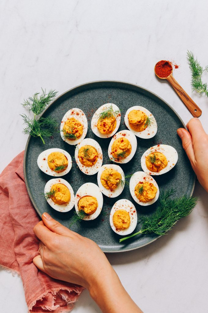 Mayo-Free Deviled Eggs
