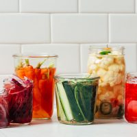 Jars of Quick Pickled Vegetables