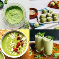 Six photos of recipes included in our Matcha Recipes round-up