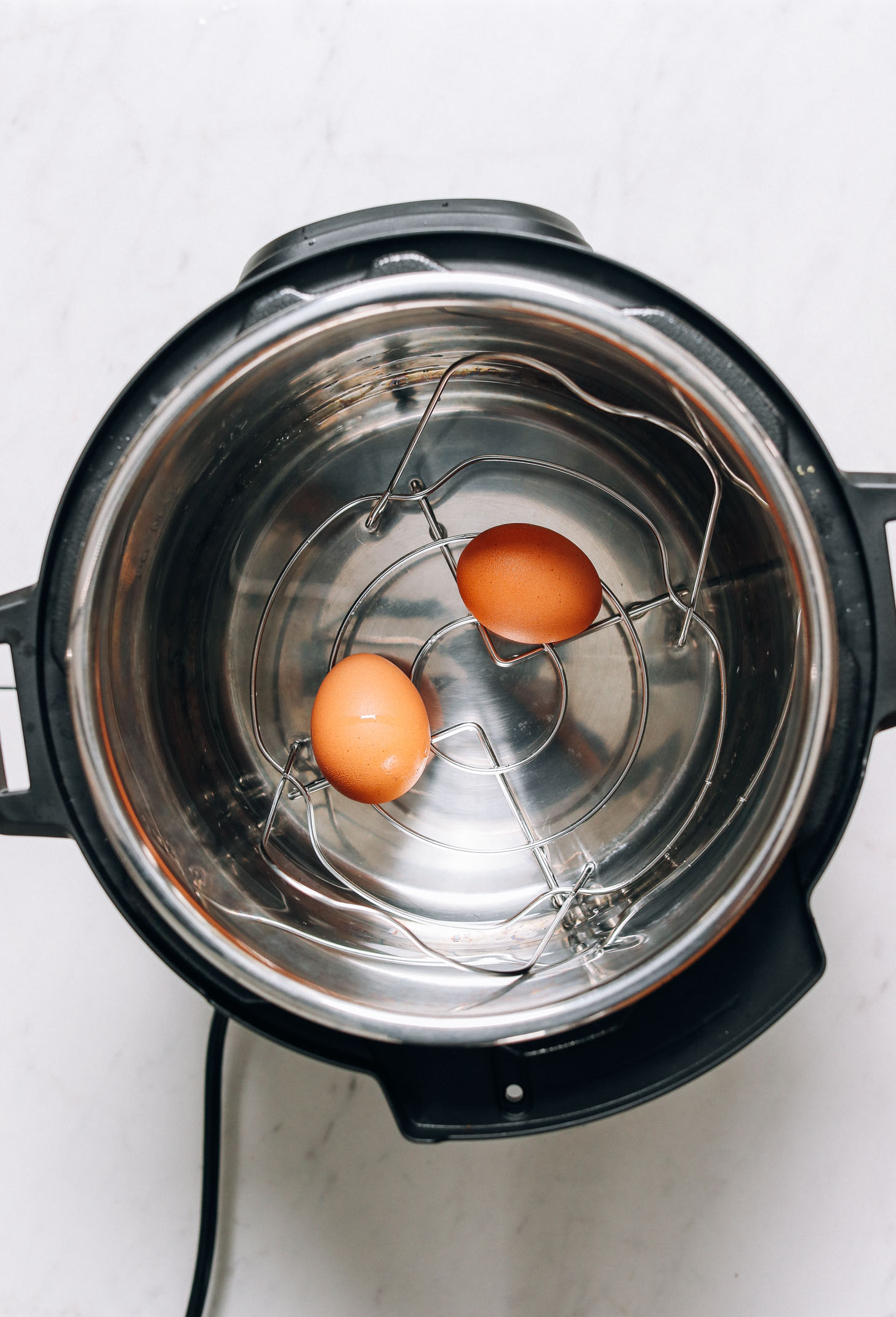 Showing how to make Instant Pot hard boiled eggs