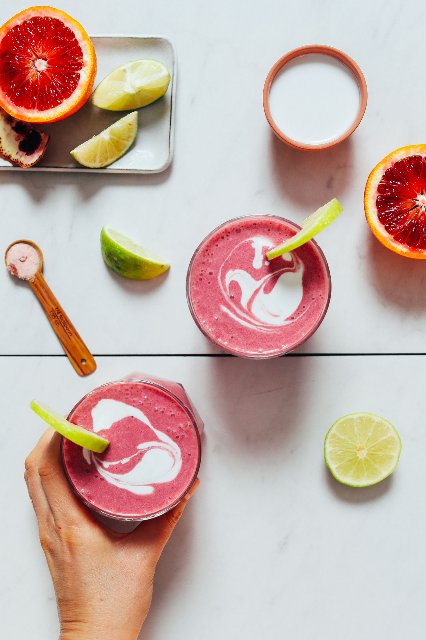 Grabbing a glass of our Orange Creamsiscle Smoothie recipe