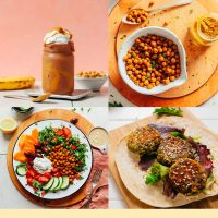 Assortment of recipe photos for our round-up of 24 Delicious Chickpea Recipes