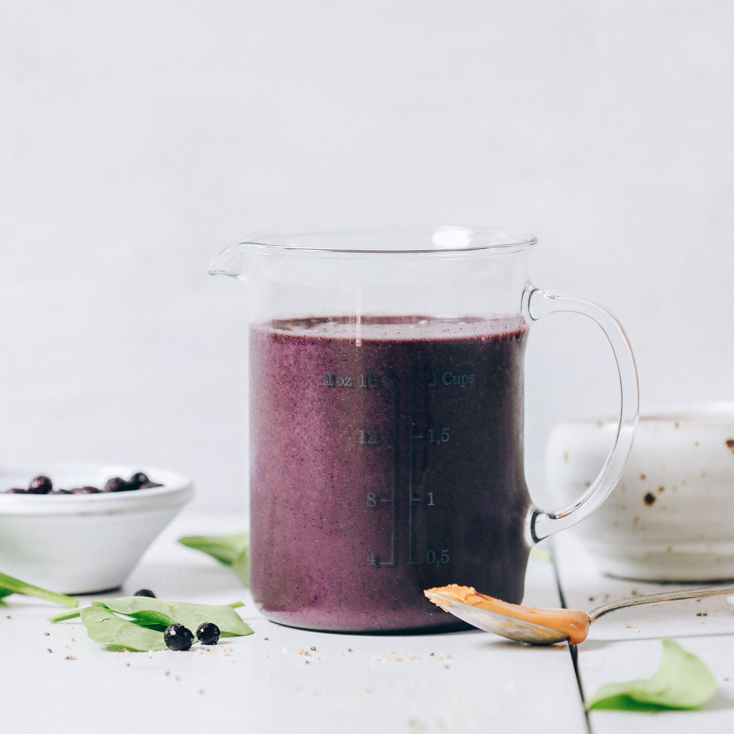 Blueberry Peanut Butter Protein Smoothie Minimalist Baker Recipes