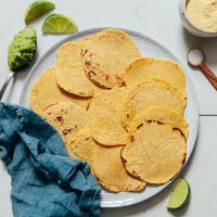 Plate of homemade Corn Tortillas