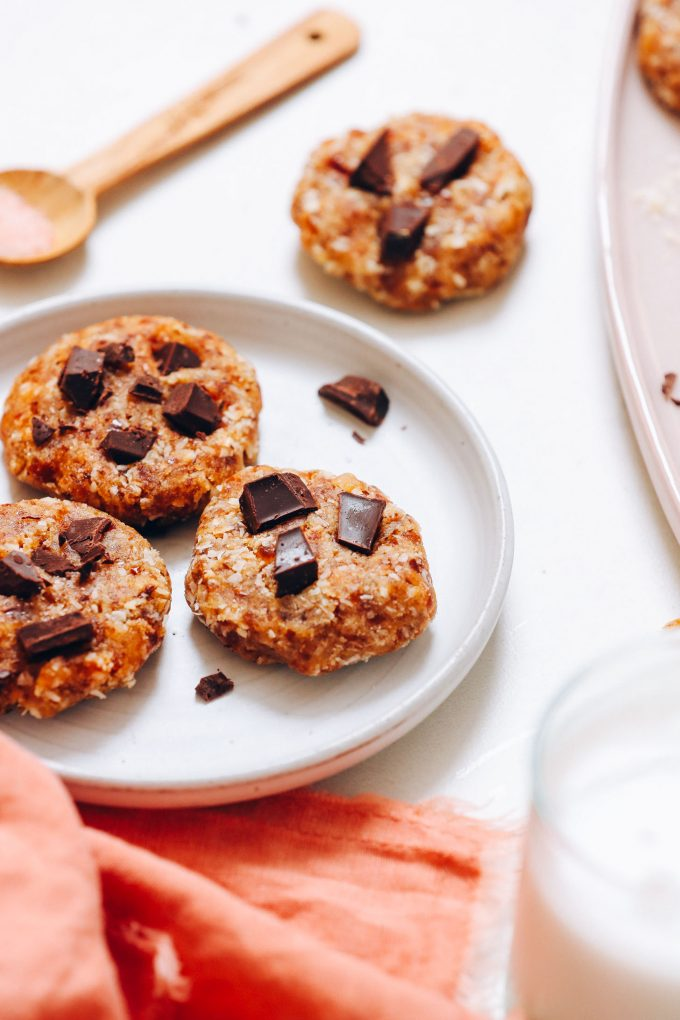 Easy No-Bake Chocolate Chip Cookies