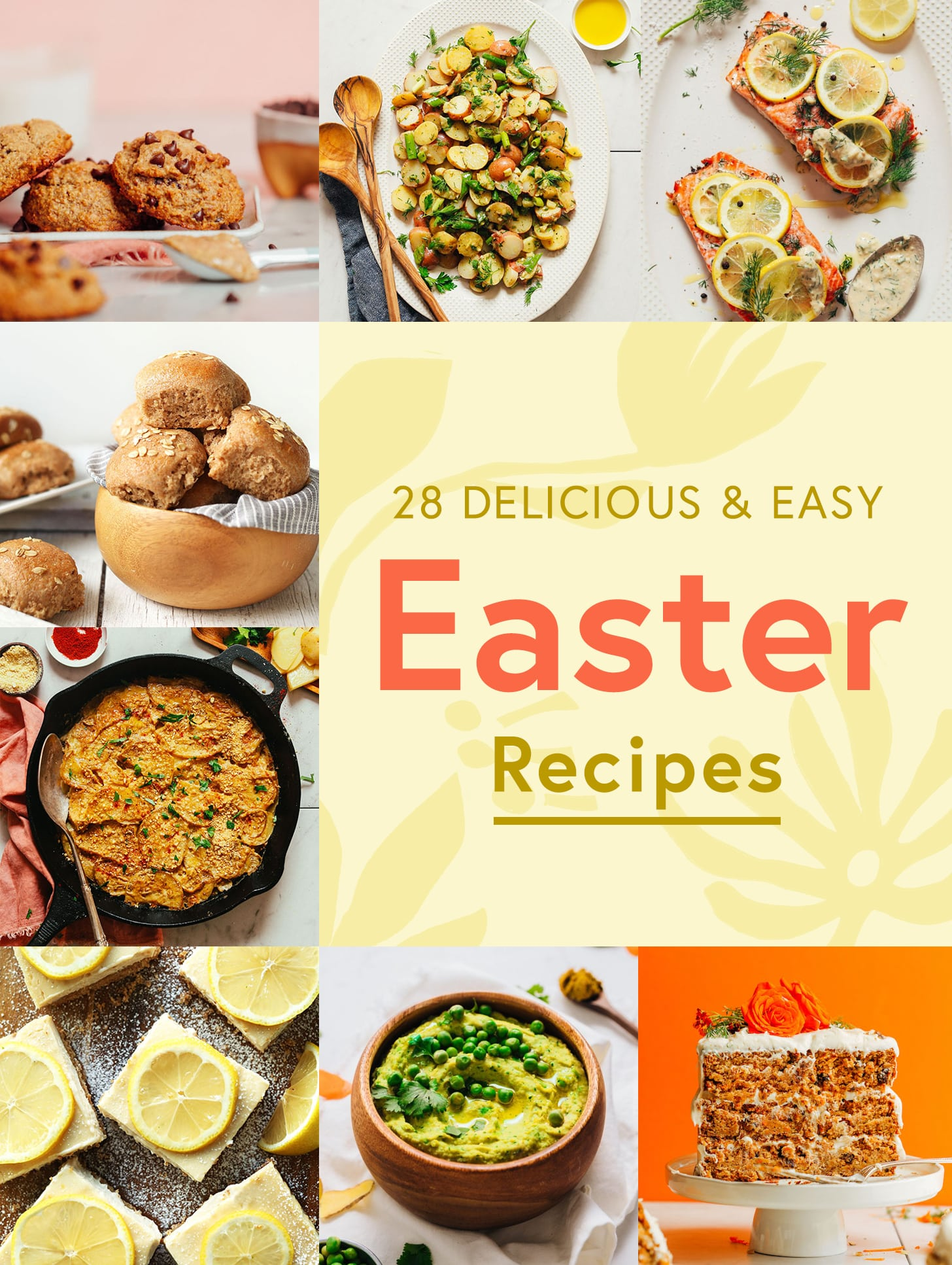 Cookies, potato salad, spelt rolls, and other Easter recipe ideas