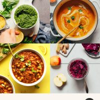 Photos of plant-based immune-boosting recipes