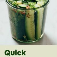Jar of Quick Refrigerator Pickles