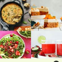 Assortment of recipes for our Round-Up of Seasonal Spring Recipes