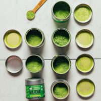 Tins of matcha for our review of the Best Matcha Brands