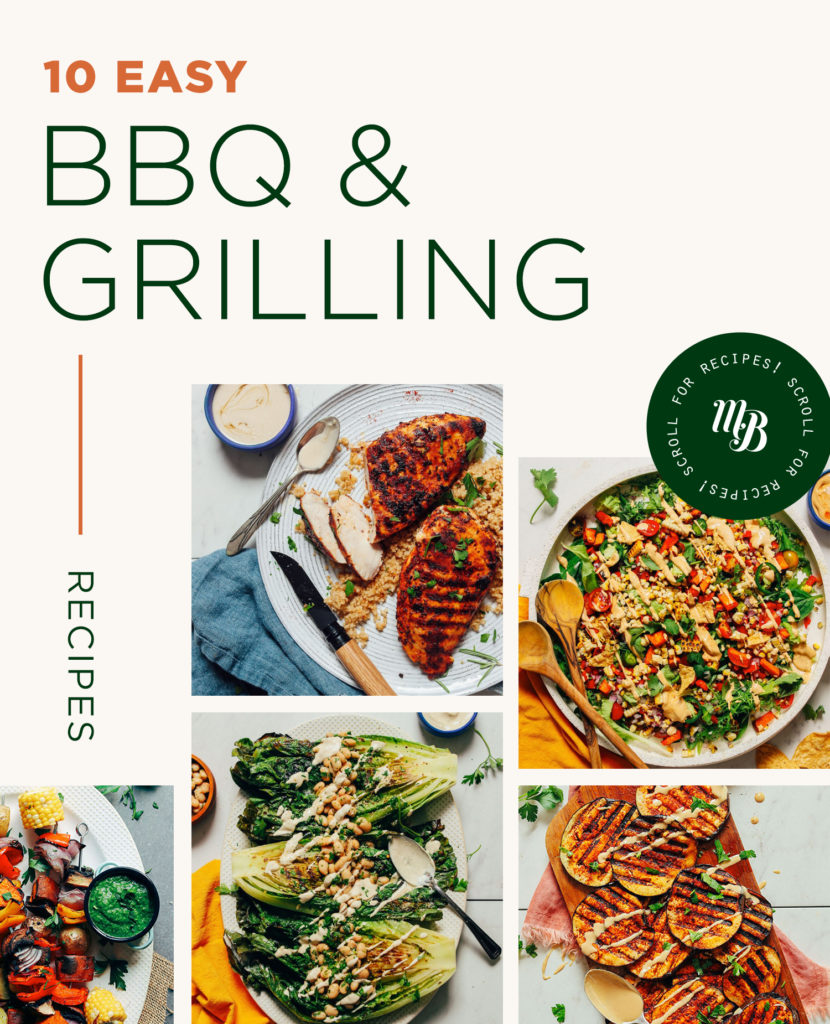 Grilled chicken, corn salad, and other BBQ and Grilling Recipes