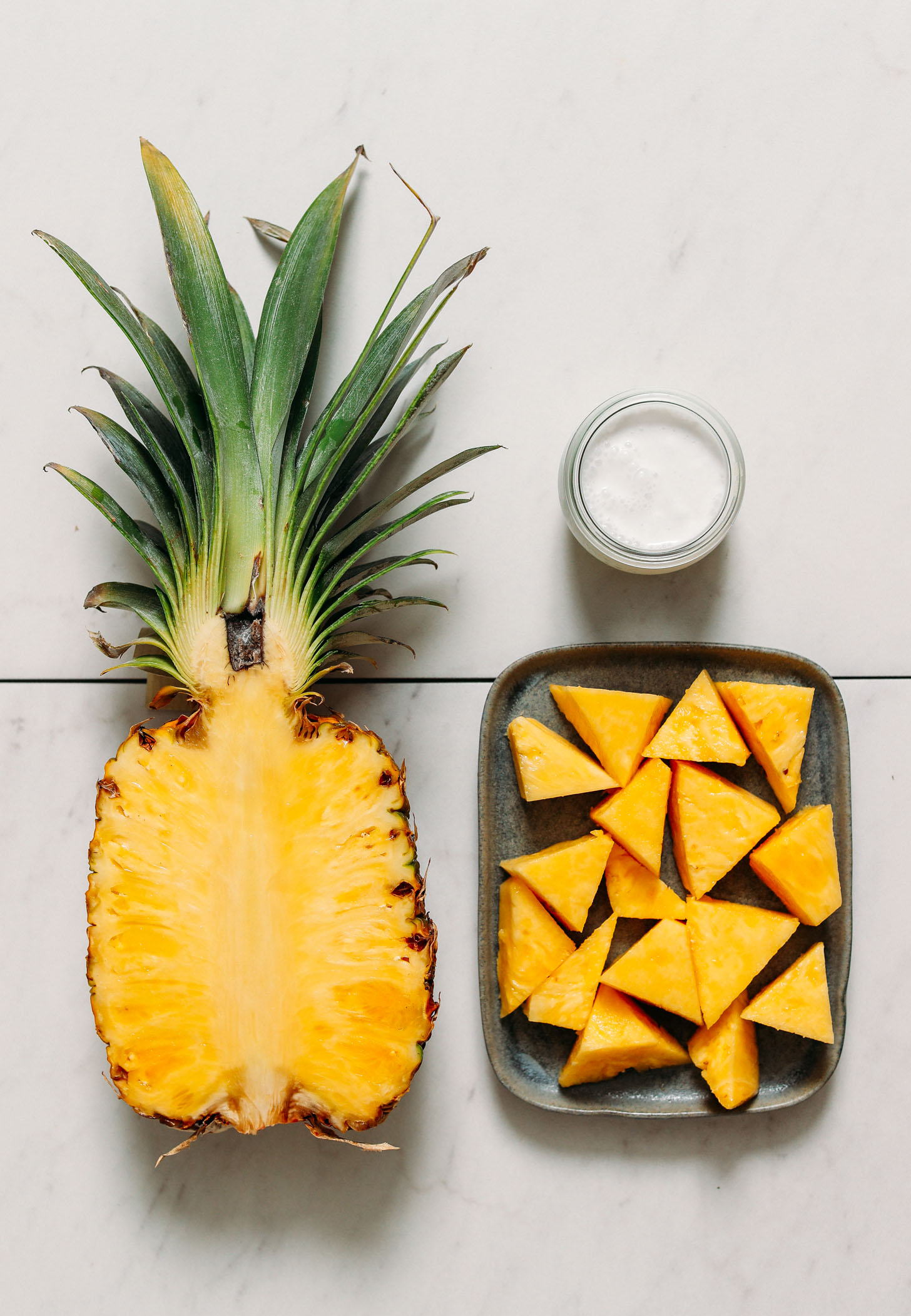 Fresh pineapple and coconut milk