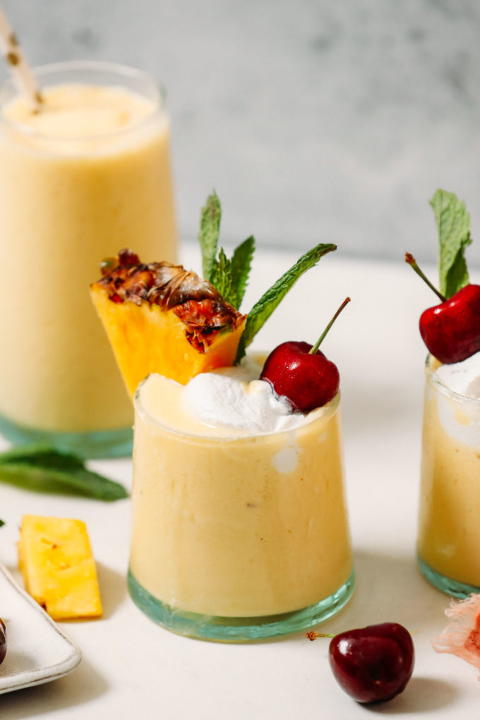 2-Ingredient Piña Colada Smoothie