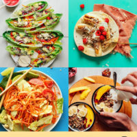 Assortment of recipe photos for our round-up of Heat-Free No-Bake Recipes for Summer