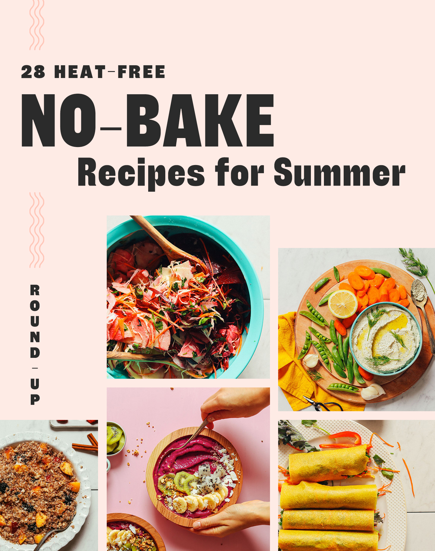 Assortment of summer recipes that don't require an oven