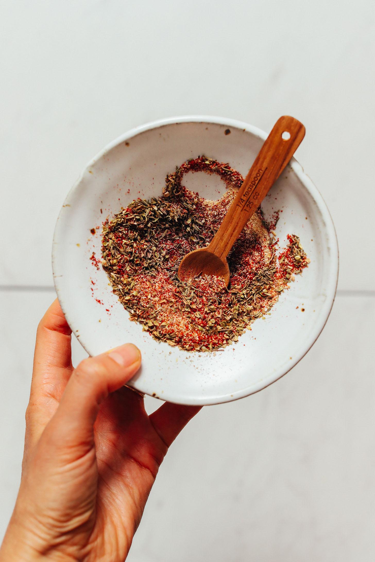 Bowl of cajun spices