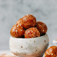 Bowl of Salted Cashew Caramel Energy Bites