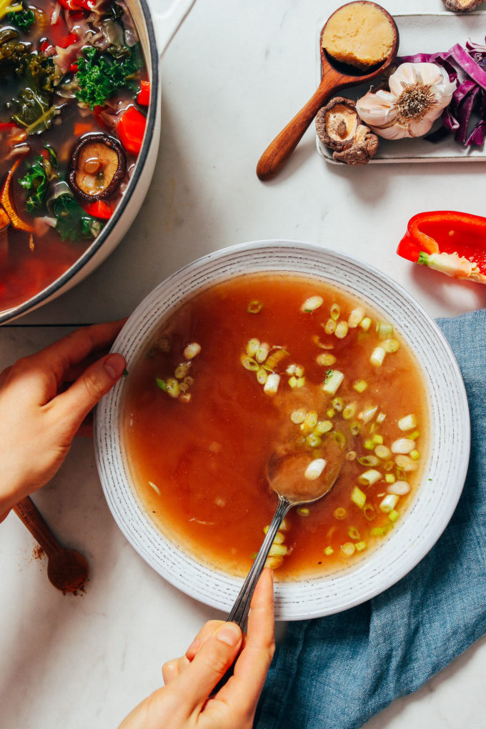 Gut-Calming Vegetable Broth (+ Miso Tonic)