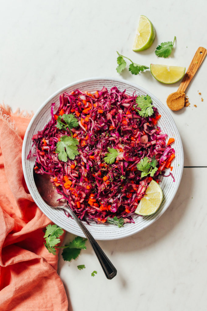 Quick Citrusy Cabbage Slaw (Mayo-Free)