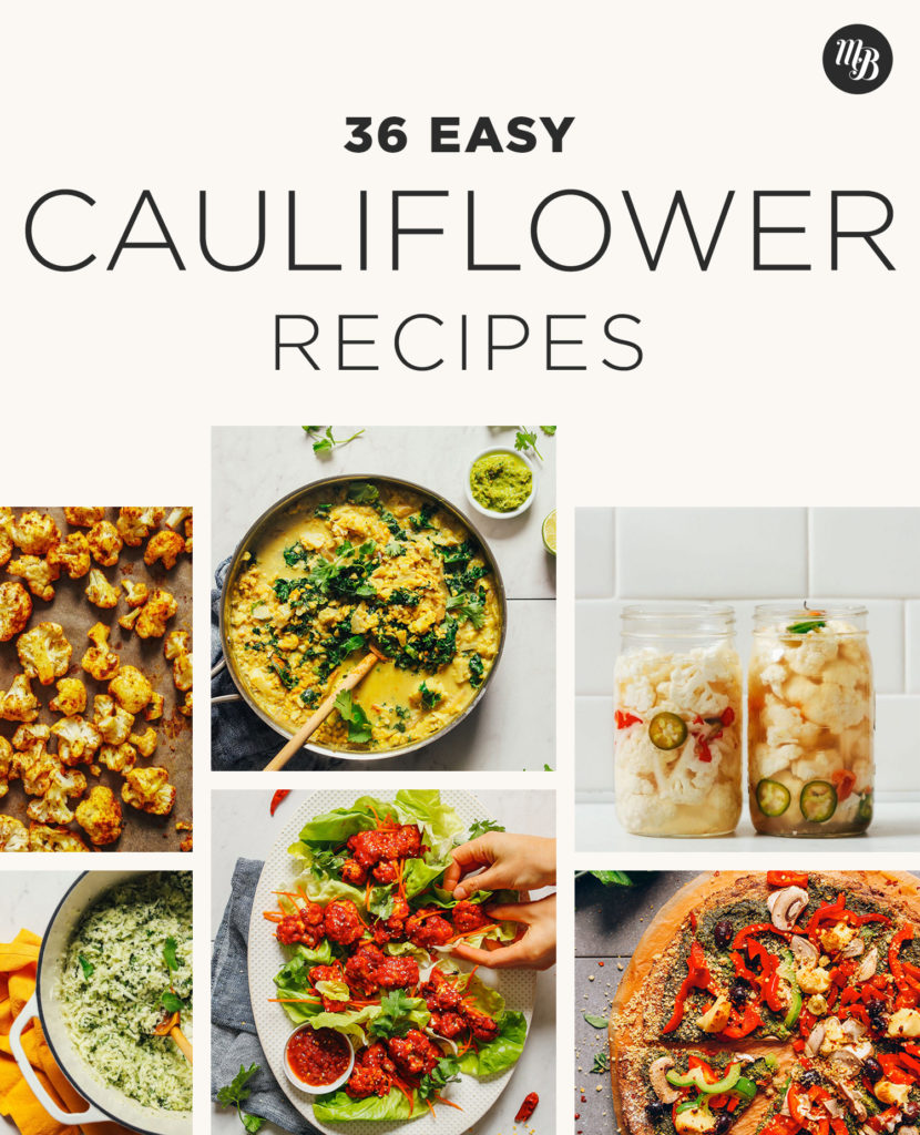 Roasted cauliflower and other delicious recipes using this versatile vegetable!