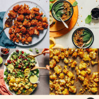 Assortment of easy cauliflower recipes