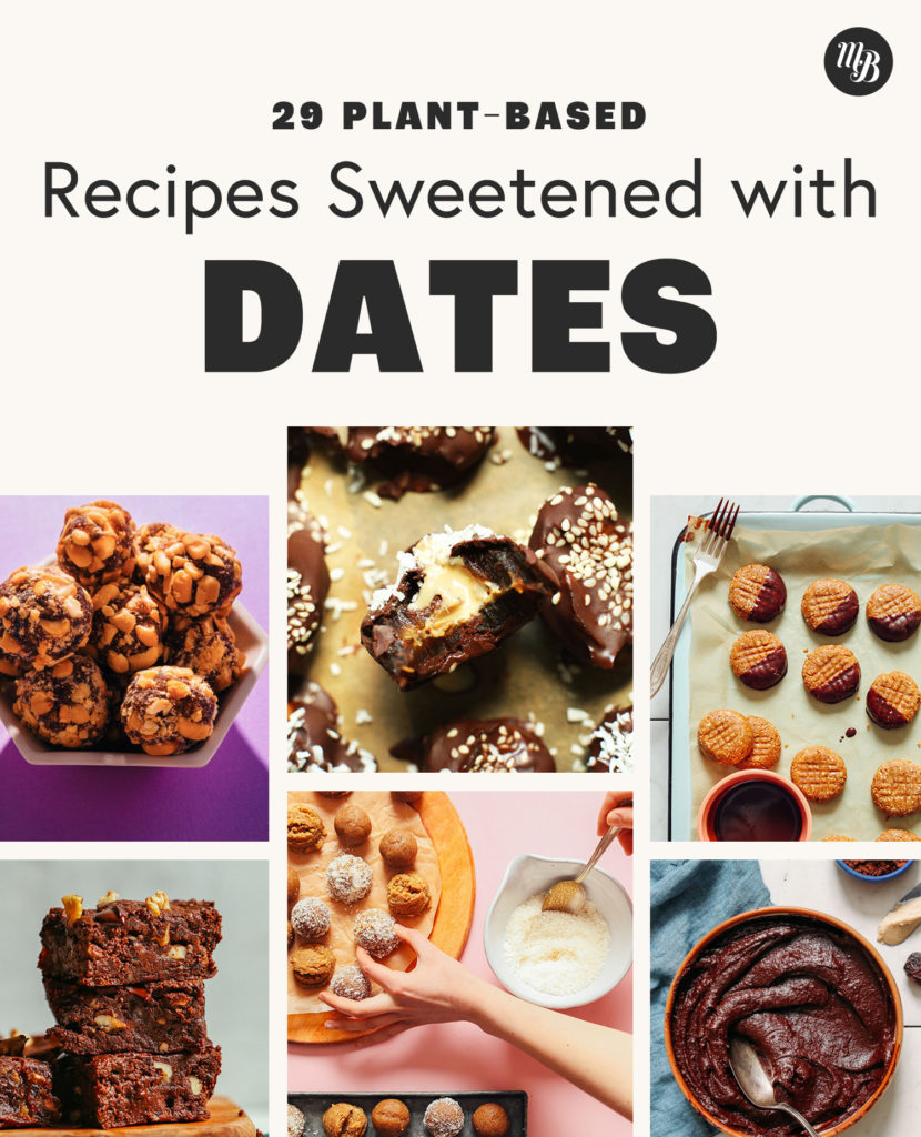 Vegan PayDays, Peanut Butter Cookies and other recipes sweetened with dates