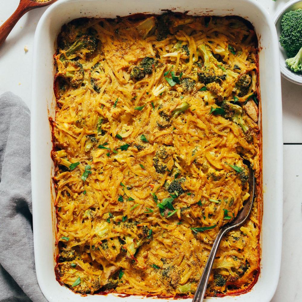 Perfectly cooked vegan hashbrown bake