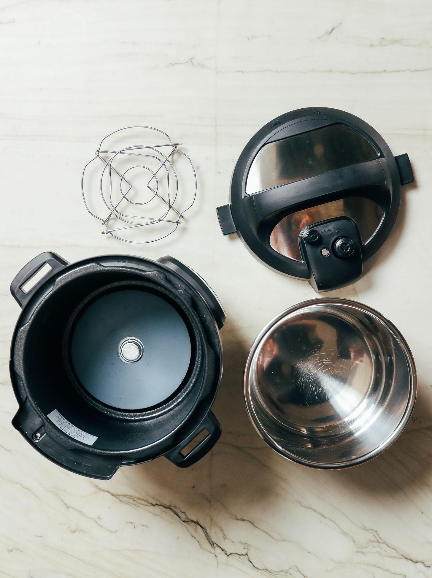 Couvercle de pot instantané, dessous de plat, pot et base
