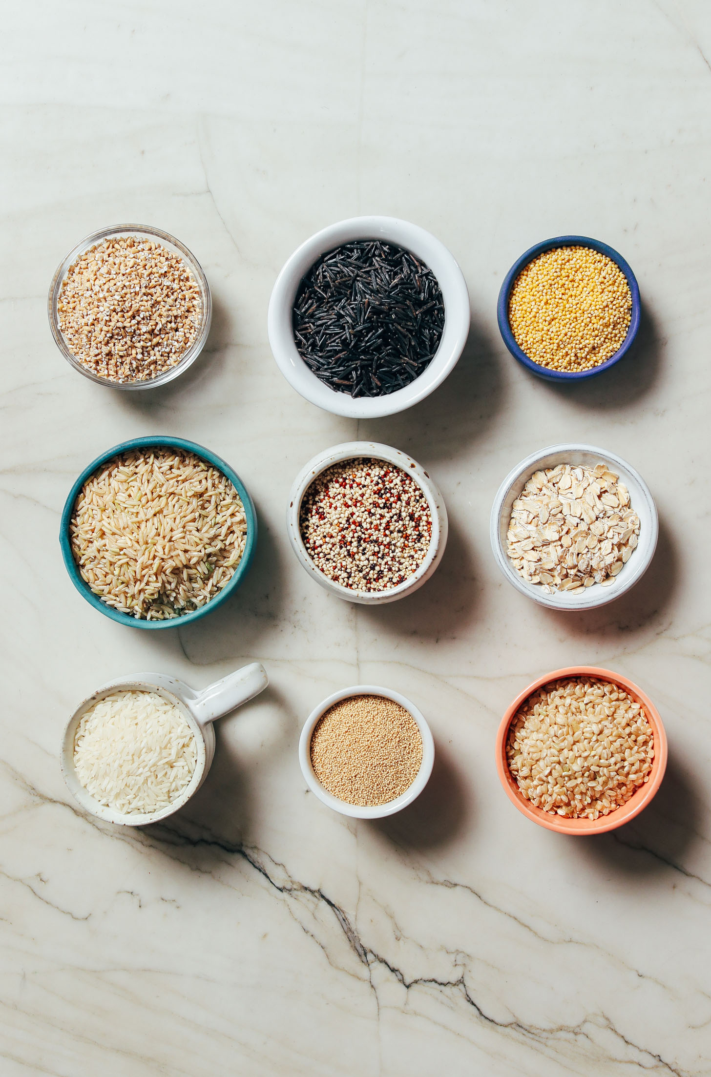 Assortment of grains for cooking in the Instant Pot